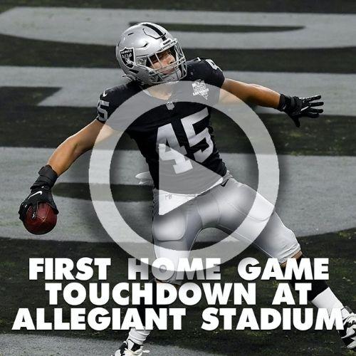 First Allegiant Stadium touchdown TD Video