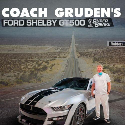 Raiders Jon Gruden car