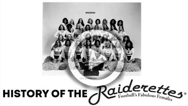 1978 Oakland Raiderettes black and white picture