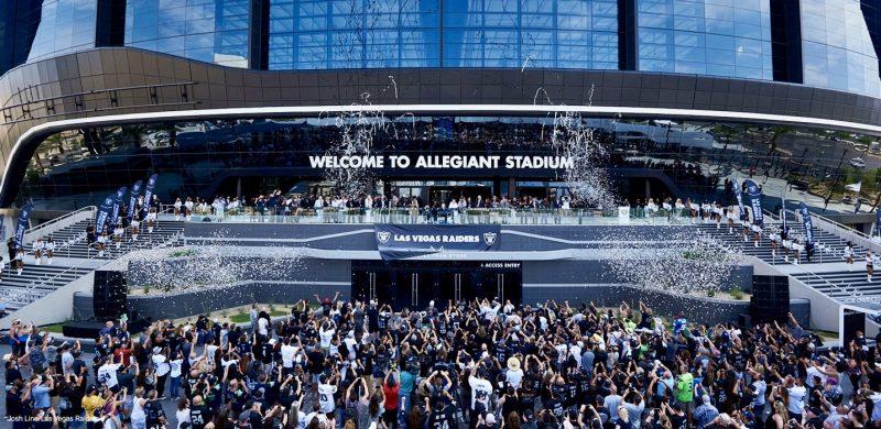 Raiders Grand opening of Allegiant Stadium august 14, 2021