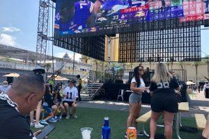 Raiders Luxor Budweiser beer garden pre-game stage