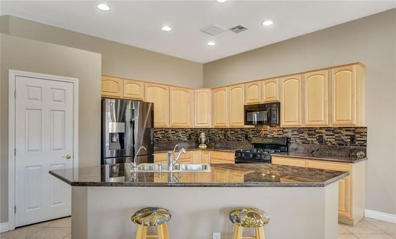 kitchen with island and pantry